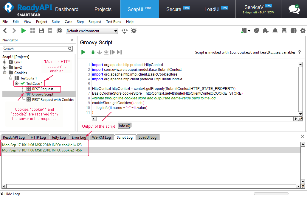 How to get cookies in Groovy scripts? ~ Case Management Portal