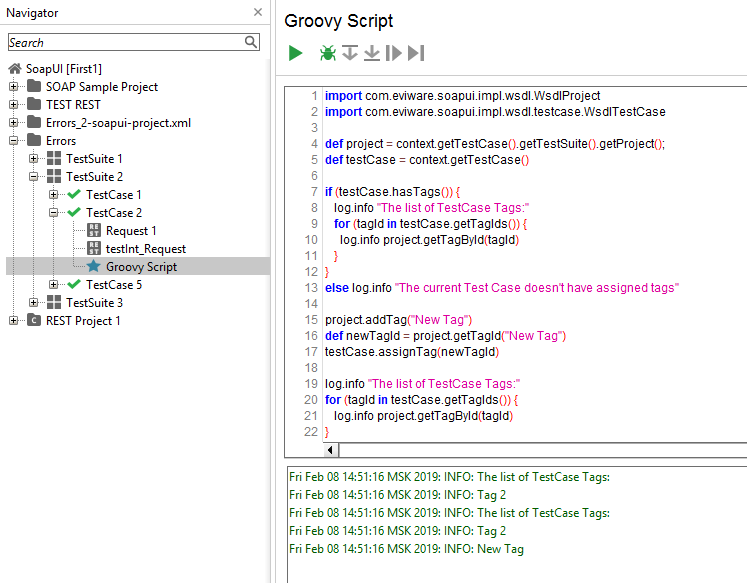 Working with Test Case tags using Groovy scripts ~ Case