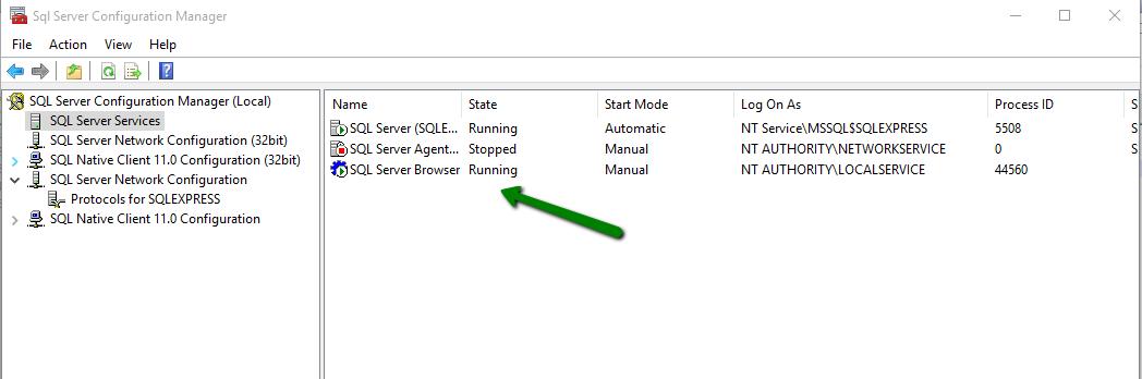 Establishing connection to Microsoft SQL Server ~ Case Management Portal